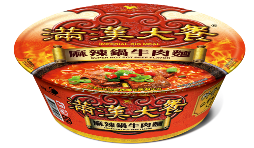 Imperial Big Meal Instant Bowl Noodle Mala Beef Flavour